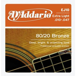 D'Addario 10-47 EJ10 Extra Light 80/20 Bronze Wound|guitarplanet