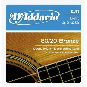 D'Addario 12-53 EJ11 Light 80/20 Bronze Wound|guitarplanet