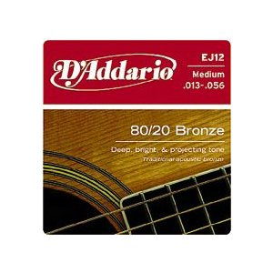 D'Addario 13-56 EJ12 Medium 80/20 Bronze Wound|guitarplanet