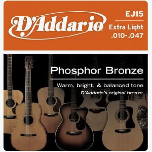 D'Addario 10-47 EJ15 Extra Light Phosphor Bronze Wound|guitarplanet