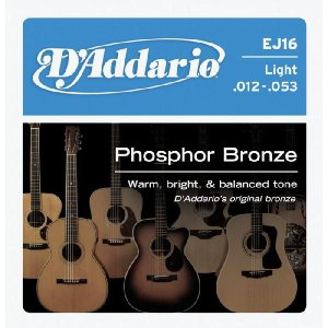 D'Addario 12-53 EJ16 Light Phosphor Bronze Wound|guitarplanet