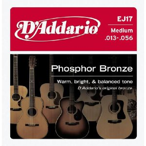 D'Addario 13-56 EJ17 Medium Phosphor Bronze Wound|guitarplanet