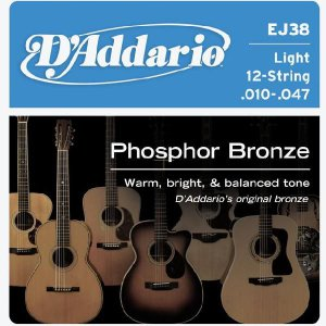 D'Addario 10-47 EJ38 Light Phosphor Bronze Wound 12弦用|guitarplanet