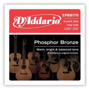 D'Addario 45-100 EPBB170 Phosphor Bronze Acoustic Bass アコースティックベース用|guitarplanet