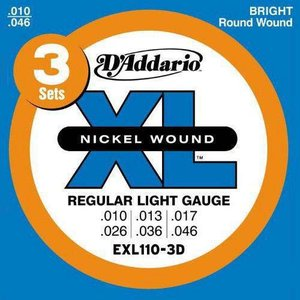 D'Addario 10-46 EXL110-3D Regular Light 3セットパック|guitarplanet