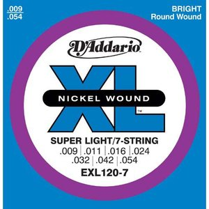D'Addario 9-54 EXL120-7 Super Light 7弦|guitarplanet