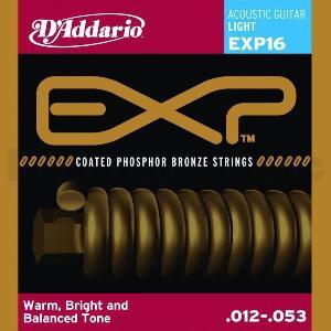 D'Addario 12-53 EXP16 Light Coated Phosphor Bronze Round Wound|guitarplanet
