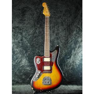 【ERNIE BALL4点セット付】 Fender Mexico Kurt Cobain Jaguar レフティ 3カラーサンバースト《エレキギター》|guitarplanet