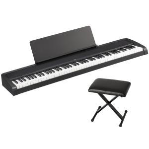 KORG B2 -Black- Digital Piano 《専用イス&譜面立て付き!!》 88鍵盤デジタルピアノ|guitarplanet