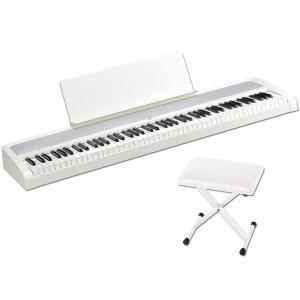 KORG B2 -White- Digital Piano 《専用イス&譜面立て付き!!》 88鍵盤デジタルピアノ|guitarplanet
