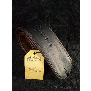 Martin Premium Rolled Leather Strap #18A0029 Black レザーストラップ|guitarplanet