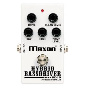 Maxon BD10 HYBRID BASSDRIVER ベース用オーバードライブ 《エフェクター》|guitarplanet