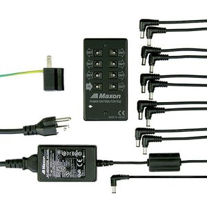 Maxon PS2 Power Supply PD2(Power Distributor)& AC2009(AC Adaptor) 《エフェクター》|guitarplanet