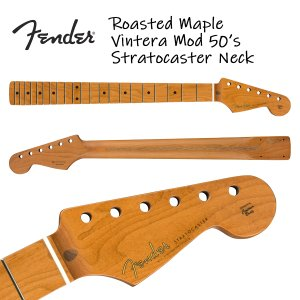 Fender Roasted Maple Vintera Mod 50's Stratocaster Neck 21 Medium Jumbo Frets 9.5