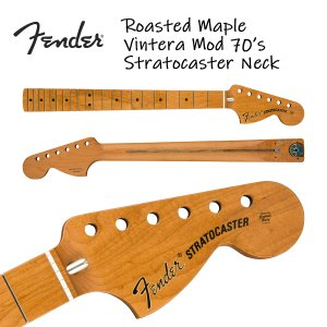 Fender Roasted Maple Vintera Mod 70's Stratocaster Neck 21 Medium Jumbo Frets 9.5