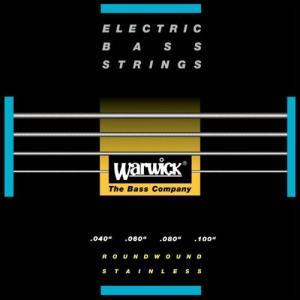 Warwick 40-100 #40210 Black Label Stainlass Steel Medium Light guitarplanet