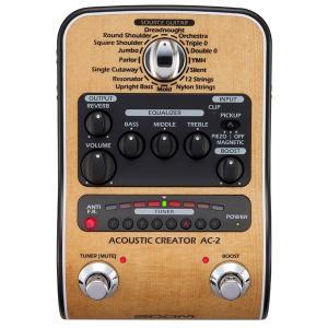 ZOOM AC-2 Acoustic Creator | アコギ用プリアンプ 《エフェクター》|guitarplanet