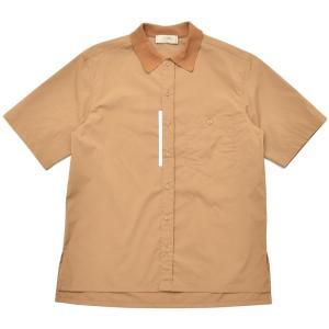 MAISON FLANEUR(メゾン フラネール)コットンポリエスエルポプリンニットカラーS/Sシャツ 7006 11001400043|guji