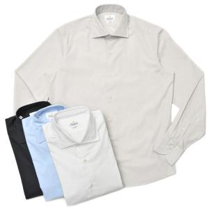 Giannetto(ジャンネット)コットンブロードソリッドセミワイドカラーシャツ VINCI FIT/103300V81 11002000109 guji
