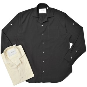 Bagutta(バグッタ)ウールトロピカルソリッドオープンカラーシャツ GELA_GL/10588 11002001054|guji