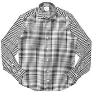 Giannetto(ジャンネット)ストレッチコットンライトネルタータンチェックセミワイドカラーシャツ VINCI FIT/404300V81 11002003109|guji
