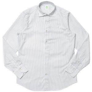 Finamore(フィナモレ)LUIGIルイジ/BALIバーリ ウォッシュドコットンピンオックスストライプワイドカラーシャツ A2041 11006000039|guji