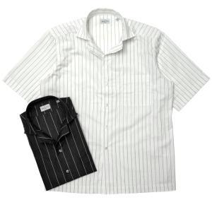Bagutta(バグッタ)ウォッシュドコットンペンシルストライプS/Sオープンカラーシャツ MAUI GM/11190 11011002054|guji