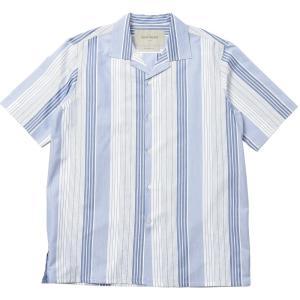 Casely Hayford(ケイスリー ヘイフォード)ARP コットンポリエステルマルチストライプオープンカラーS/Sシャツ 42959001 11015400065|guji