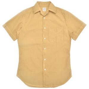 BOLZONELLA(ボルゾネッラ)ガーメントダイコットンブロードS/Sオープンカラーシャツ C7166 11081003025|guji