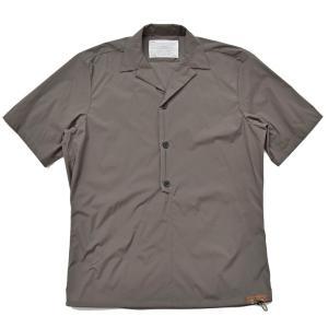kolor(カラー)ナイロンポリプルオーバーS/Sオープンカラーシャツ 18SCM-B01109 11081400133|guji
