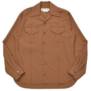 MARNI(マルニ)ウールトロピカルオープンカラーワークシャツ CUMU0085AOS4545500M 11092400138|guji