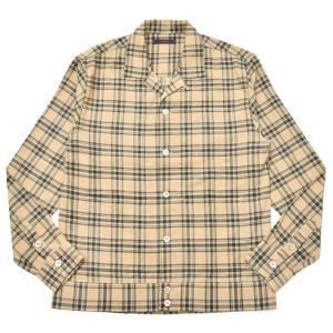 THE GIGI(ザ ジジ)BELL コットンネルタータンチェックオープンカラーシャツジャケット L900 11096400039 guji