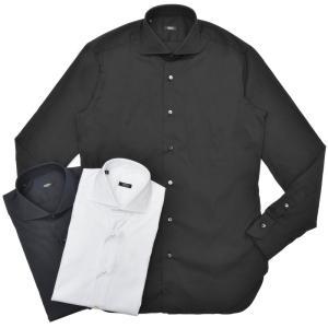 BARBA(バルバ)406 ストレッチコットンブロードソリッドワイドカラーシャツ I/406/TONDO/6620 11102200022|guji