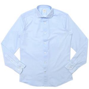 TRAIANO(トライアーノ)ポリエステルナイロンストレッチジャージピンオックスタッチワイドカラーシャツ ROSSINI RADICAL FIT/TS09/TBL2 11102201167|guji
