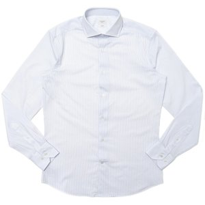 TRAIANO(トライアーノ)ポリエステルナイロンストレッチジャージペンシルストライプワイドカラーシャツ ROSSINI RADICAL FIT/TS16/TF27 11102202167|guji