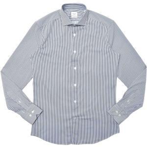 TRAIANO(トライアーノ)ポリエステルナイロンストレッチジャージロンドンストライプワイドカラーシャツ ROSSINI RADICAL FIT/TS25/2000 11102203167|guji