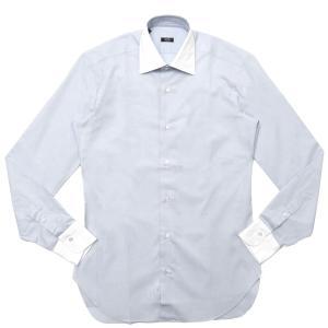 BARBA(バルバ)301 コットンピンオックスソリッドセミワイドカラークレリックシャツ I/301/TONDO/6622 11102204022|guji
