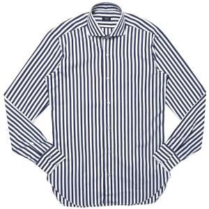 BARBA(バルバ)406 コットンブロードロンドンストライプワイドカラーシャツ I/406/TONDO/6653 11102206022|guji