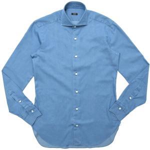 BARBA(バルバ)406 ウォッシュドコットンダンガリーワイドカラーシャツ I/406/TONDO/PZ09 11102207022|guji