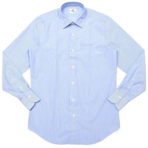 【SALE30】Finamore(フィナモレ)VITTORIOヴィットリオ/MILANOミラノ コットンブロードストライプセミワイドカラーシャツ P9209 11191202039|guji