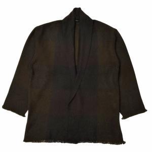 COMOLI(コモリ)×Norlha(ノラ)ヤクウールチェックボタンレスカーディガン STOLE JK 16002405172|guji