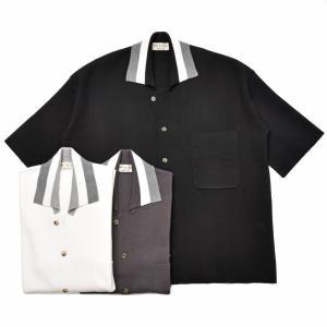 ma'ry'ya(マリア)コットンミラノリブオープンカラーS/Sニットシャツ YAK004 16091402025|guji
