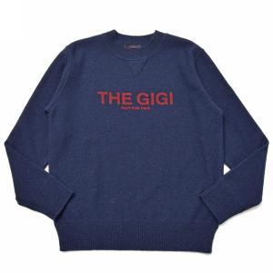 THE GIGI(ザ ジジ)DEXTERTSミドルゲージウールクルーネックロゴニット J858 16096402039 guji