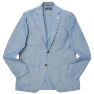 LARDINI(ラルディーニ)ウォッシュドコットンリネンシャンブレー2Bシャツジャケット JTAMAJ/ELC1378 17011001178 guji