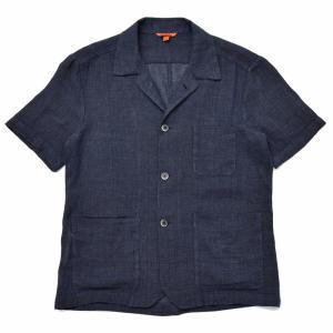 BARENA(バレナ) リネンコットンジャガードメッシュオープンカラーS/Sシャツ OSU2167 17091401025 guji