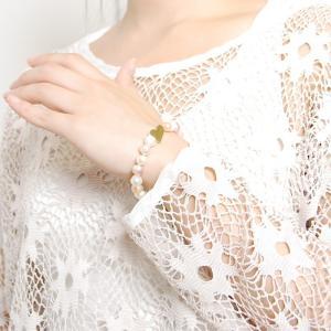 母の日 天然パール モチーフ ブレスレット レディース/ハート クローバー 四つ葉 フラワー 花|gulamu-jewelry|08
