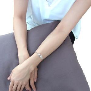 ブレスレット レディース/贅沢14粒 クローバー ブレスレット/プラチナコーティング/シルバー925/ギフト|gulamu-jewelry|03