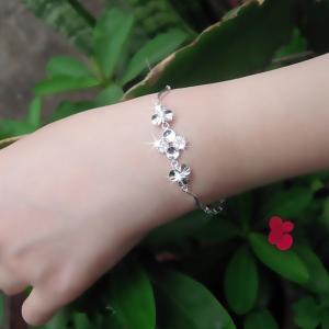 ブレスレット レディース/贅沢14粒 クローバー ブレスレット/プラチナコーティング/シルバー925/ギフト|gulamu-jewelry|06