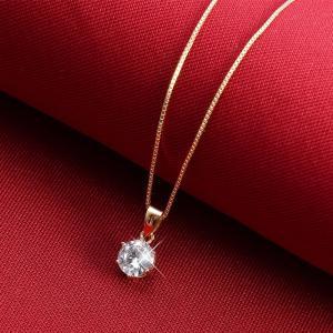 ネックレス レディース 大粒0.8カラット ネックレス 一粒/プラチナ ゴールド仕上/シルバー アクセサリー プレゼント 女性 ジュエリー|gulamu-jewelry|12