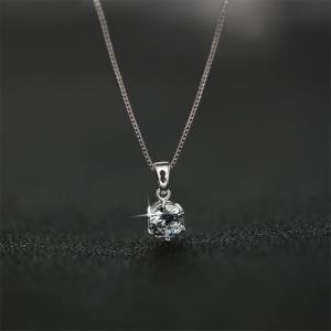 ネックレス レディース 大粒0.8カラット ネックレス 一粒/プラチナ ゴールド仕上/シルバー アクセサリー プレゼント 女性 ジュエリー|gulamu-jewelry|13